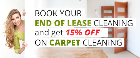 Book your End Of Lease cleaning and get 15% OFF on Carpet Cleaning